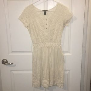 Beautiful small cream white Mango dress.